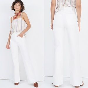 """NWT Madewell White 11"""" High Rise Flare Jeans"""